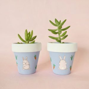 Spring Bunny pot