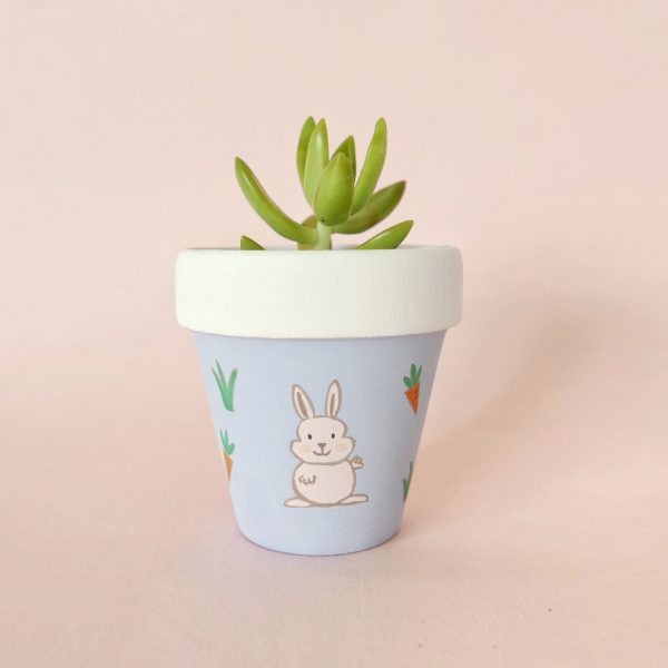 Spring Bunny pot (front)