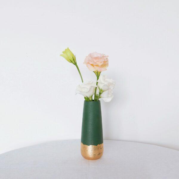 Sherwood vase with soft pastel posy