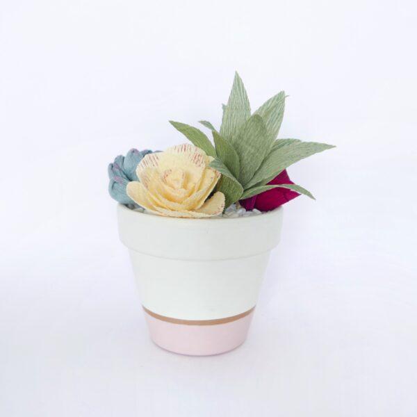 Maggie Blooms crepe paper succulent arrangement