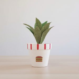 Big Mac Pot with Paper Succulent