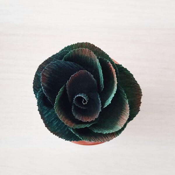 Pure Bloom - dark green paper succulent