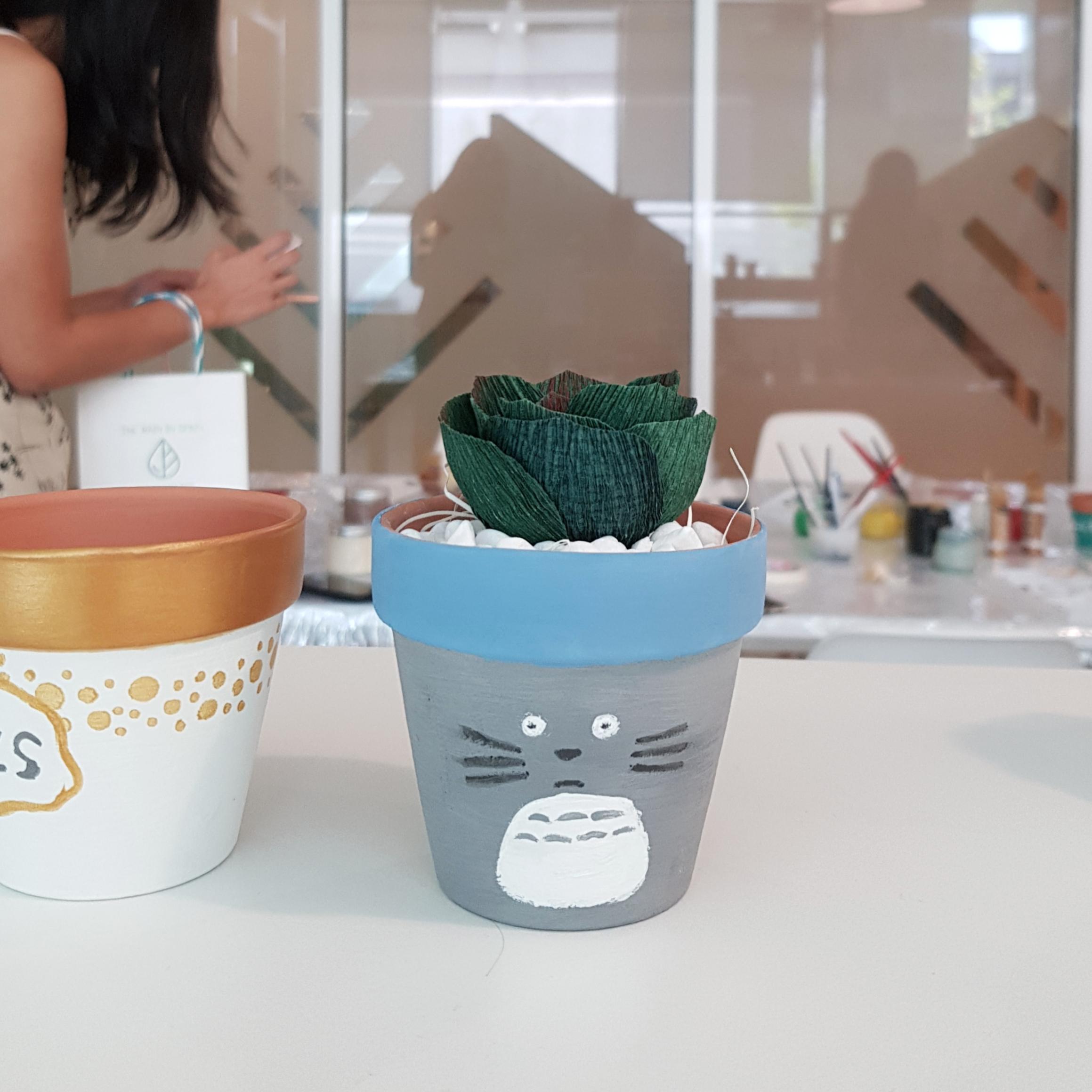 Paper succulent pot