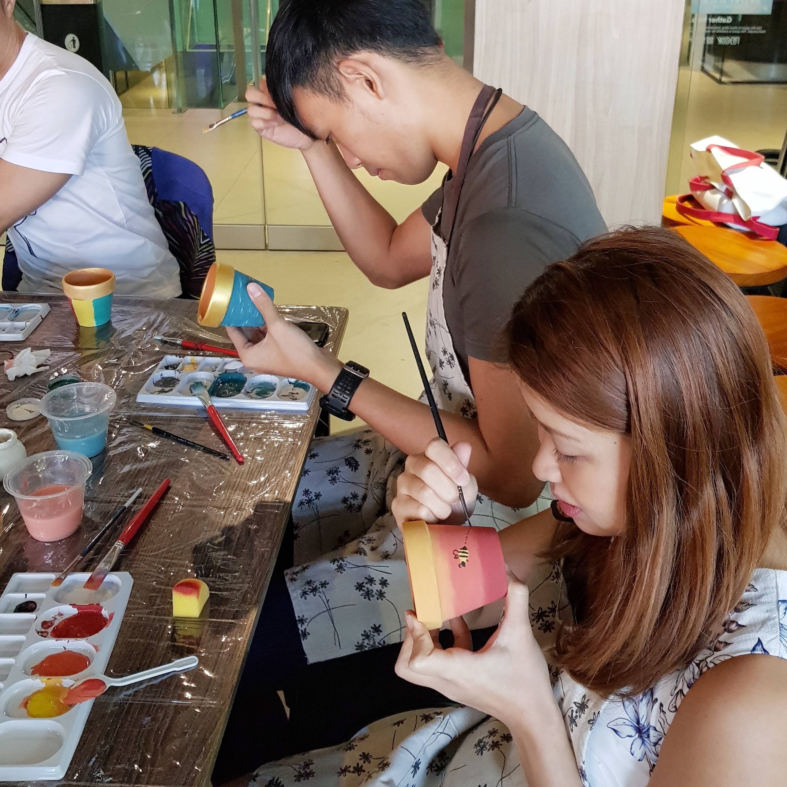 Pot Painting with Kadence International (team building)