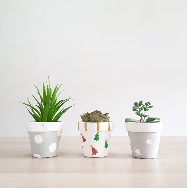 Christmas Plant Pots by The Rain in Spain