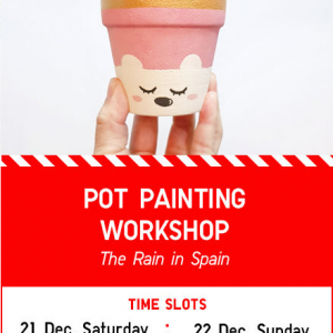 Pot Painting workshop at Uniqlo