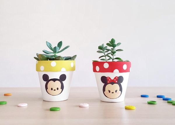 Minnie & Mickey Mouse Plant Pots