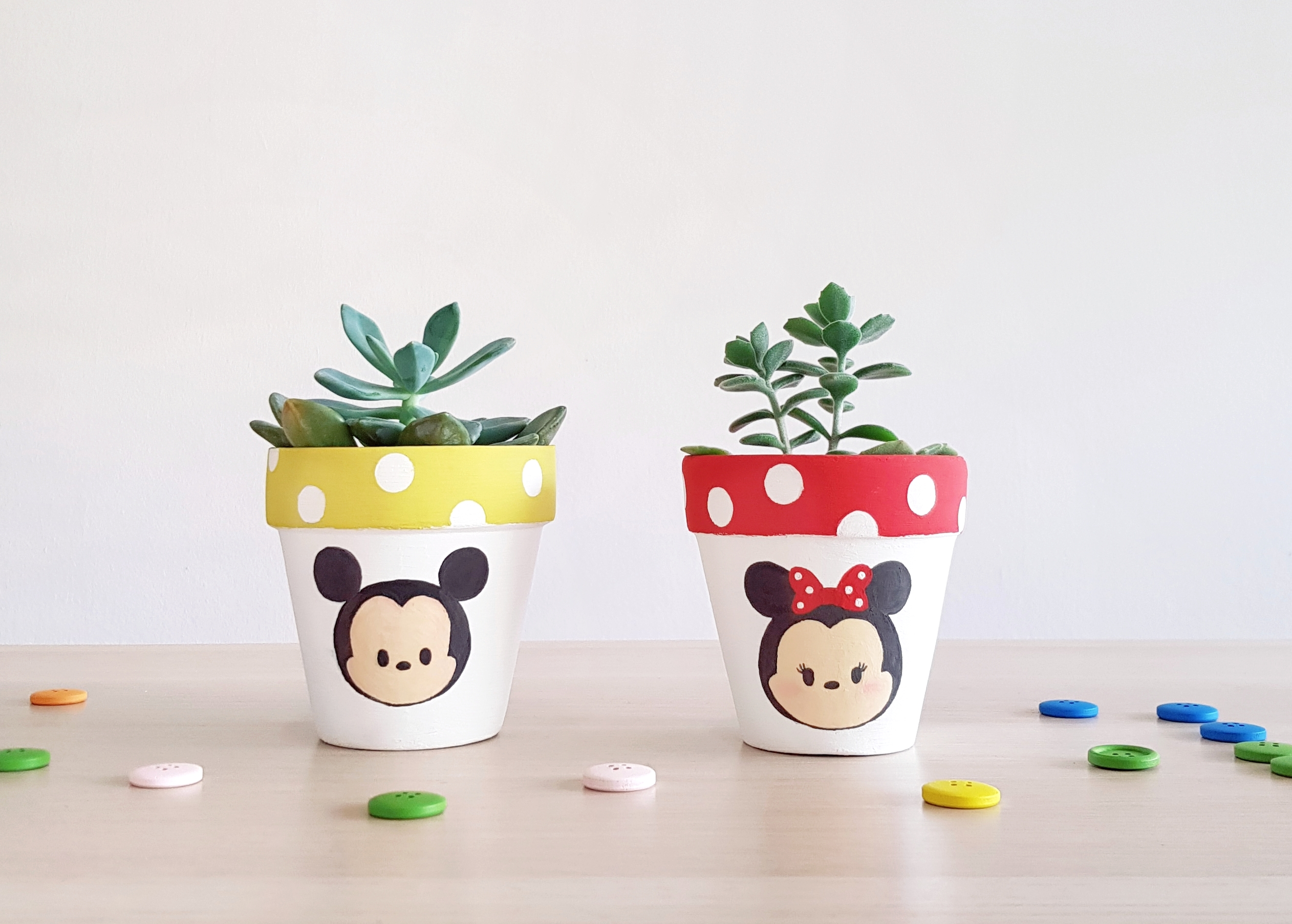 Mickey & Minnie Mouse Plant Pots
